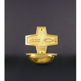 Holy Water Font - brass to Church (3)