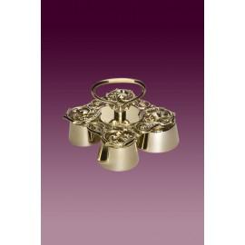 Altar Bells Baroque - polished brass - 4 tons (4)