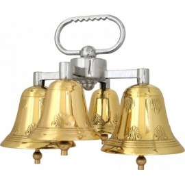 Quadruple altar bells with two sounds, decorated